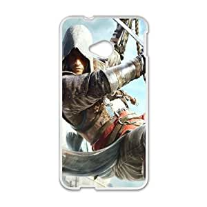 Assassins Creed Black Flag HTC One M7 Cell Phone Case White as a gift E4490707