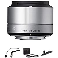 Sigma 19mm f/2.8 DN Lens for Micro 4/3rds Camera, Silver with Accessory BUNDLE
