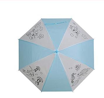 Paraguas Pintado A Mano para Niños Paraguas para Colorear ...
