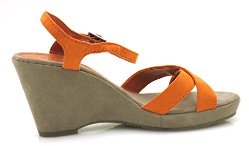 ... Marco Tozzi Sandalette Damenschuhe Schuhe Wedge Orange ...