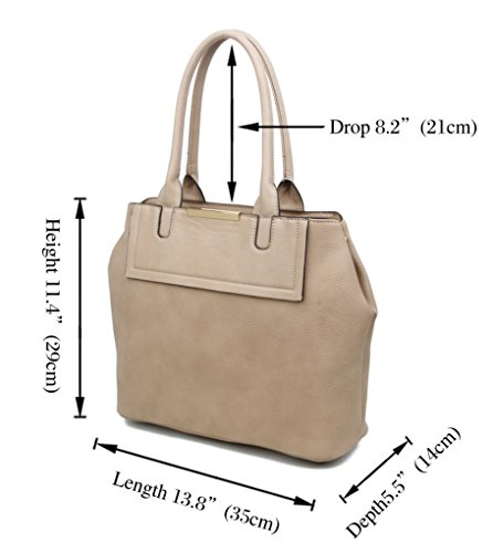 Light Ladies Zip BROWN Weight Handbags TOTE Fashion Compartment Shoulder BAG Soft Designer Pockets LeahWard 141101 dTC40nC