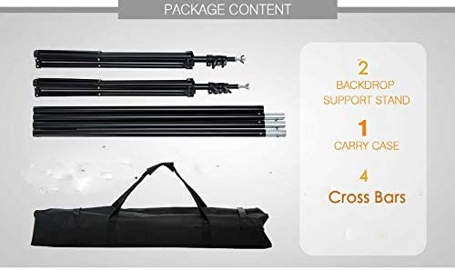 Backdrop Kit Stand Photo Video Studio Perfect Conveniently Photography Professional and Durable Energy Saving Light Bulbs Ultimat