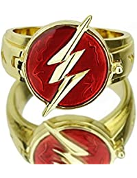 The Flas Ring Lightning Logo Prop Alloy Accessories