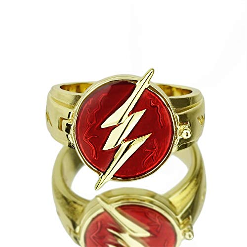 - CrazyCatCos The Flas Ring Lightning Logo Prop Alloy Accessories