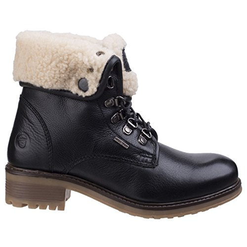 Bottines Femmes Cuir Cotswold Ladies Asthall Noir Imperméable Bottes TXnnwqPUd