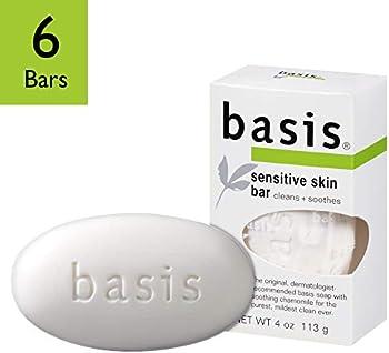 6-Pack Basis Sensitive Skin Bar Soap (4-oz)