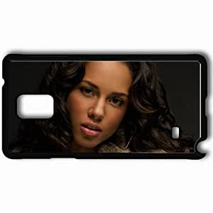 Personalized Samsung Note 4 Cell phone Case/Cover Skin Alicia Keys Girl Make Up Haircut Fur Black