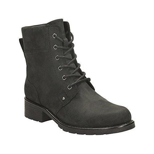 Clarks Womens Orinoco Spice Boots Black Leather UK6 Black