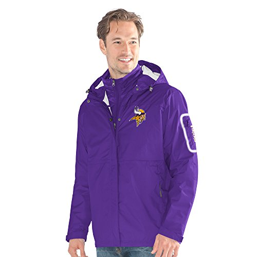 G-III Sports by Carl Banks Adult Men Acclimation 3-in-1 Systems Jacket, Purple, Medium