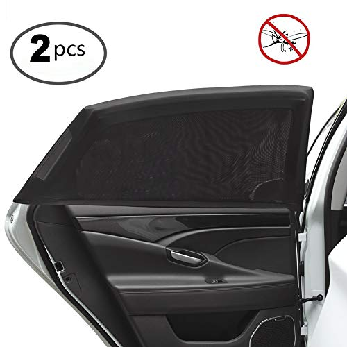 Side Window Baby Kid Pet Breathable Sun Shade Mesh Backseat (2 Pcs) Fits Most Cars/SUVs ()