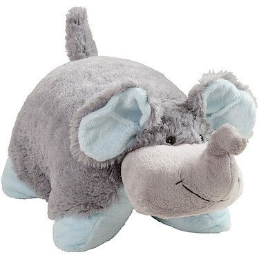 My Pillow Pets Nutty Elephant – Large (Grey with Blue), Baby & Kids Zone
