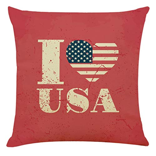 ❤️Ywoow❤️ Home Decor Cushion Cover Independence Day Pillowcase Sofa Throw Pillow Covers