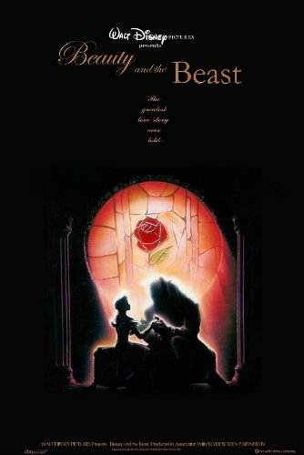 Beauty And The Beast poster great quality borderless movie poster A : Disney
