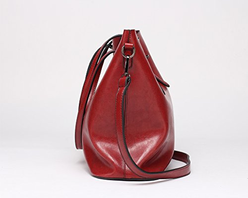 Capacity Shopping Bags FNTSIC Tote Cross Women's Leather Elegant Bags Shoulder Red Wine Body red Top Handle Classic PU Ladies Bags Bags Bags Dark Large Handbags CnZ4RqpwC