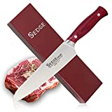 Sedge Chef Knife 8 Inch Kitchen Restaurant Cooking Razor Sharp Blade High Carbon German Stainless Steel with Ergonomic Pakkawood Handle Gift Boxed - ST Series