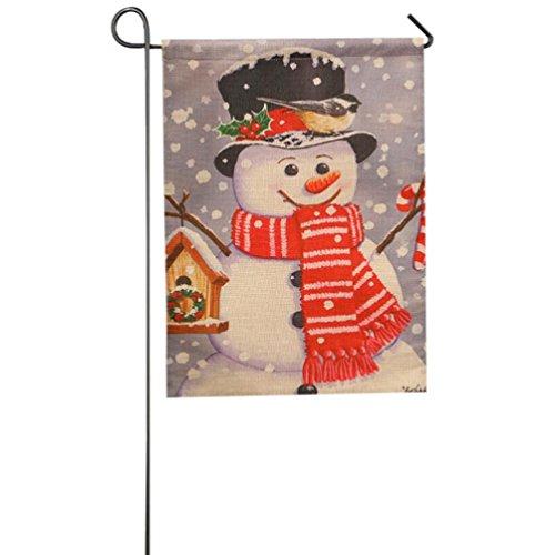 Longra Fahne Flagge Garten Indoor Outdoor-Dekoration Weihnachten Winter Schneeflocke (D)