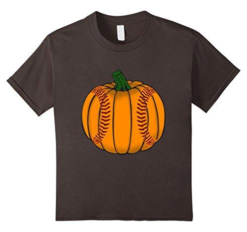 Kids Funny Pumpkin Baseball Sports Lover Halloween T-Shirt 8 (Asphalt 8 Halloween)