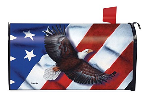 Briarwood Lane Patriotic Eagle Magnetic Mailbox Cover 4th of July Holiday by Briarwood Lane