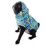 Pattern Dog Raincoat with Hood, Waterproof Lightweight Custom made Dog Rain Jacket, Reflective Rain poncho for Small Medium Large Dogs by DoggyBanda