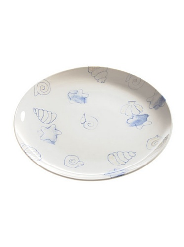 Tognana 30 cm Round Pearl Shells Coupe Platter, White