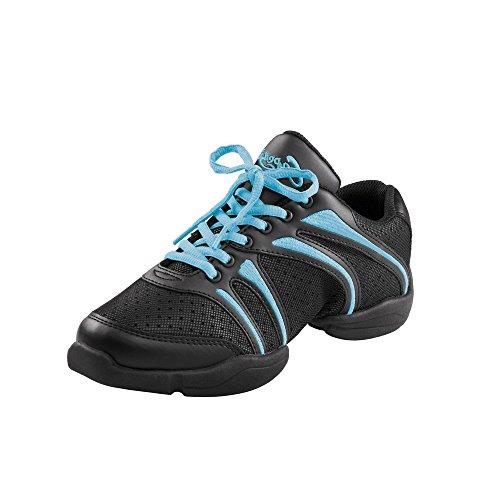Capezio DS30 Bolt Split Sole Dance Sneaker Schwarz/Eisblau