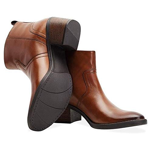 Ankle Tan Boot Zip Redfoot Ladies qtZn7wq1x