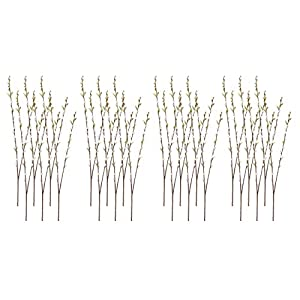 """36"""" Pussy Willow Spray Gray (Pack of 24) 3"""