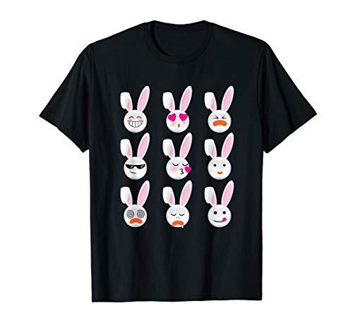Easter Bunny Emoji (Bunny Emojis T-shirt Cute Funny Rabbits Easter PJ Gift)