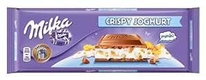 MILKA chocolate crispy joghurt tableta 300 gr
