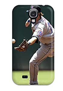 Slim Fit Tpu Protector Shock Absorbent Bumper New York Mets Case For Galaxy S4