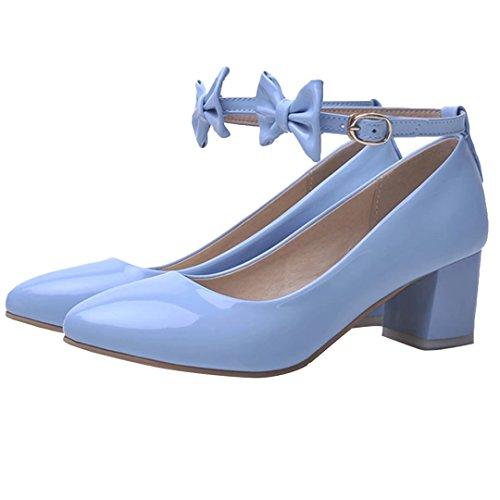 Mujer AIYOUMEI Tobillo Azul de Tira SCPwxqAT