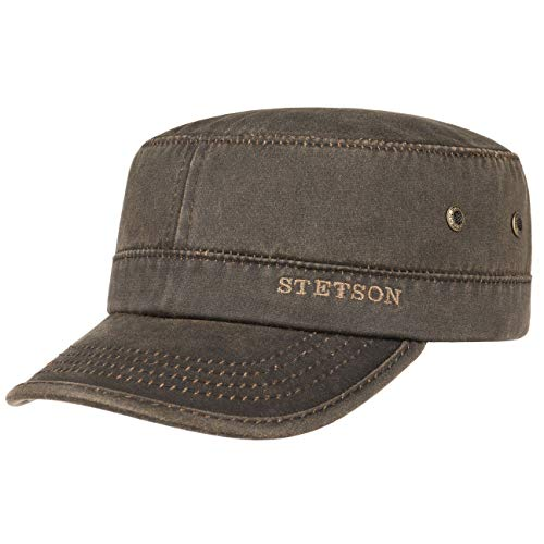 Stetson Datto Men's Army Cap | Water-Repellent, UV 40+ | Brown 7 1/2-7 5/8