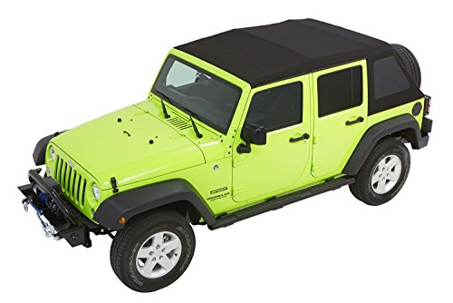 Bestop Jeep Wrangler Door - Bestop 54923-35 Black Diamond Trektop NX Glide Convertible Soft Top for 2007-2018 Wrangler Unlimited 4-Door