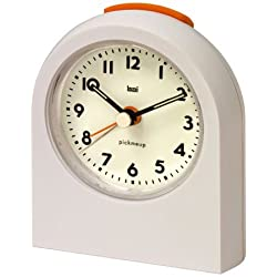 Bai Design Pick-Me-Up Travel Alarm Clock with Snooze, White, Designed in the USA
