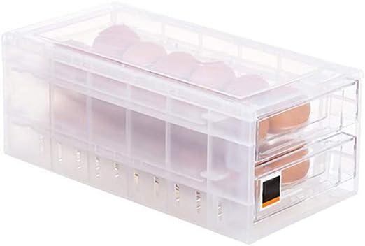 Gaocunh 24 Huevos Cajón Huevo Caja de almacenamiento ...