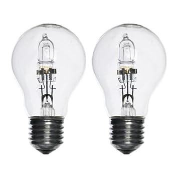 IKEA HALOGEN Bulb E27, clear 2 pack 42 W