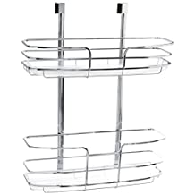 Lynk Over Cabinet Door Organizer - Double Shelf - w/Molded Tray - Chrome