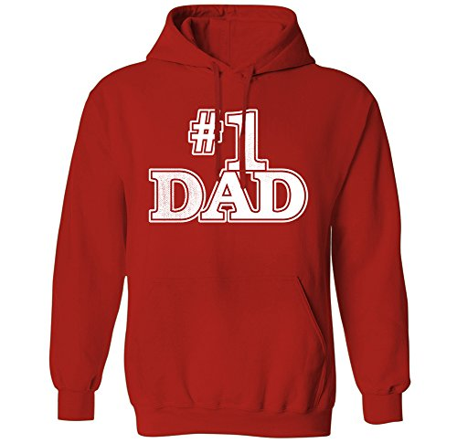 #1 Dad Classic Father's Day Number One Mens Hoodie Sweatshirt