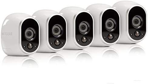 Arlo – Wireless Home Security Camera System | Night vision, Indoor/Outdoor, HD Video, Wall Mount | Cloud Storage Included | 5 camera kit (VMS3530-100NAR) – (Renewed)