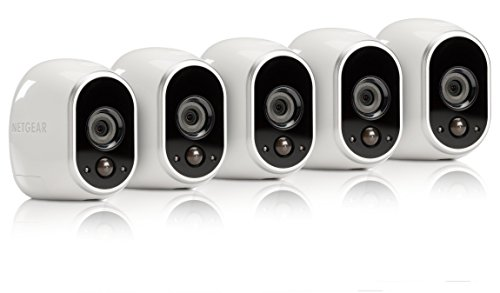 Arlo Security System by NETGEAR – 6 Wire–Free HD Cameras, Indoor/Outdoor, Night Vision (VMS3630B)