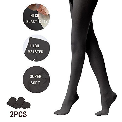 Tights for Girls Ballet Leotards Toddler Dance Leggings Pants Footed Kids (Black - 2 Tights, 8-14 Years) -