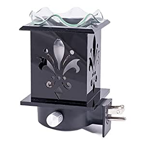 Fleur De Lis Wall Plug-in Wax and Oil Warmer with Dimmer
