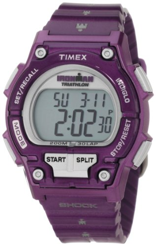 Timex Women's T5K5589J Sport Ironman Purple Full Size Shock 30 Lap Watch