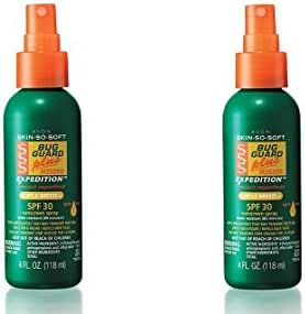 2 Bottles - Avon Skin so Soft Bug Guard Plus Expedition SPF 30 Pump Spray