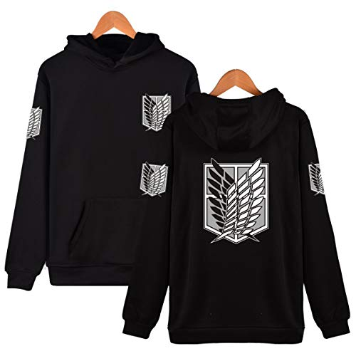 (Unisex Cotton Blend Long Sleeve Attack On Titan Survey Corps Adult Zip Hoodie Cosplay Costume)