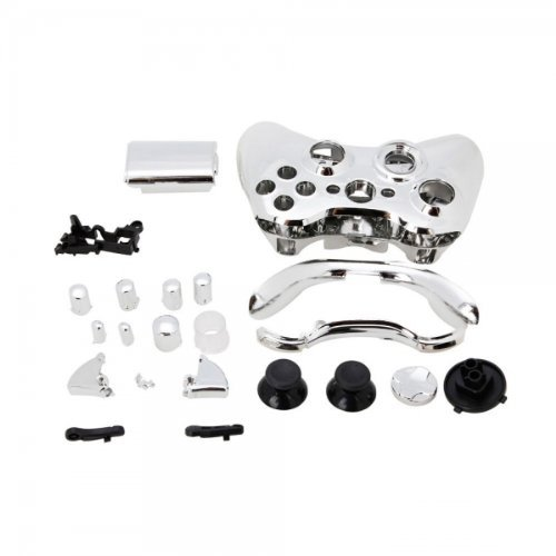 Price comparison product image YHG Replacement Parts for Chrome Xbox 360 Controller Shell [Silver]
