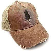 47efd336ba1 Trucker Hat - Wilderness Area - Adjustable Men s Unisex Distressed Trucker  Hat - 2 Color