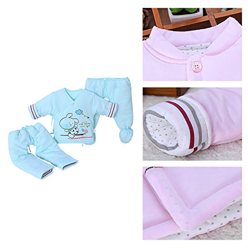 E Maniche Cappotto Set Pezzi 1 Senza Per Bambini Blu Vestiti In Pantalone Di Pagliaccetto 3 Bozevon Neonati Cotone wgd0qnz4x0