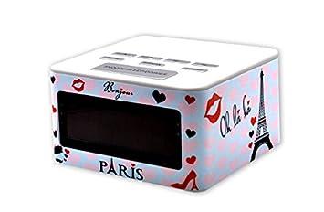 Teknofun - Teko1 - 811107 - Radio Réveil - Paris I Love  Amazon.fr ... 5219b8cbc305