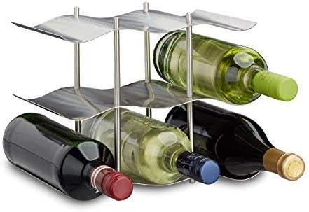 porte bouteille autoportant pour boissons et bouteilles de vin lot de 2 couleur bronz mDesign range bouteille pour vin joli casier /à bouteille en m/étal /à 3 /étages pour jusqu/'/à 10 bouteilles